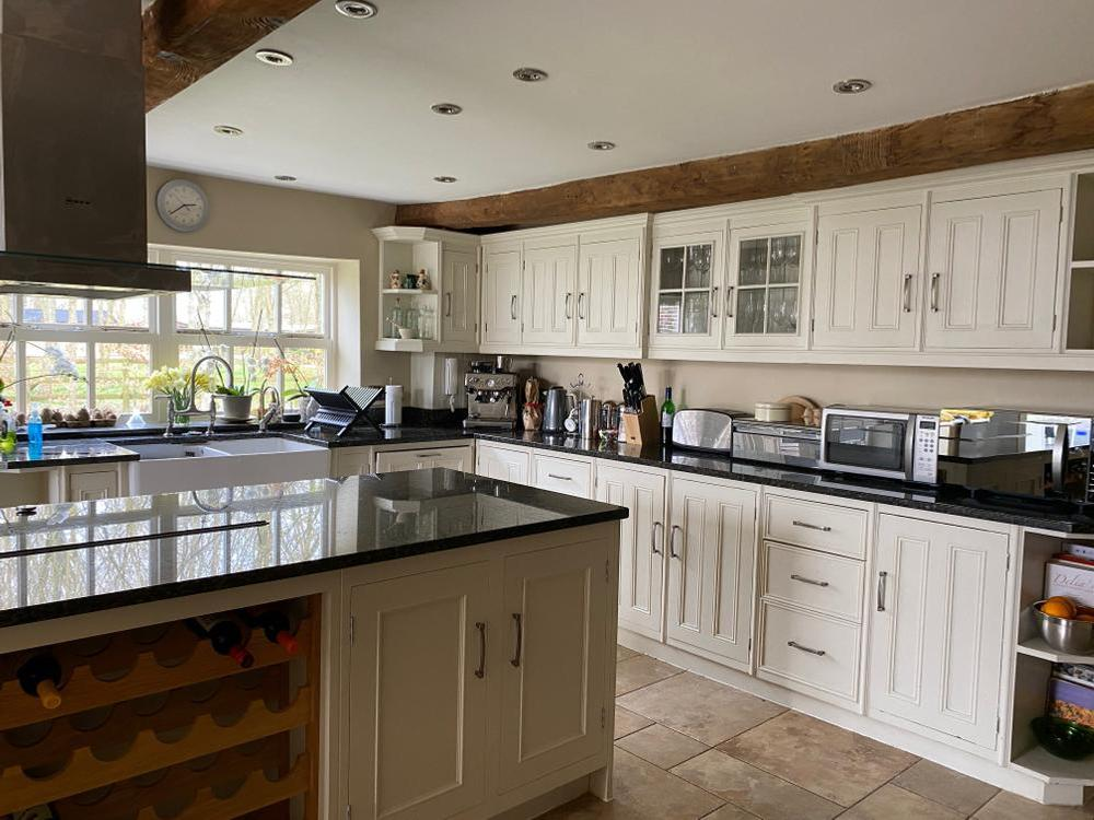 Handmade Painted Kitchen with Quartz Worktops
